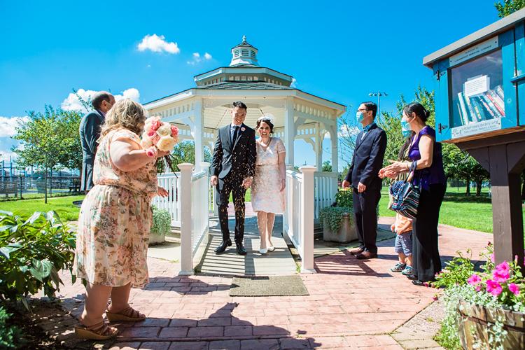 babylon town hall wedding ceremony in the gazebo