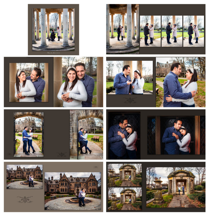 engagement photoshoot album book
