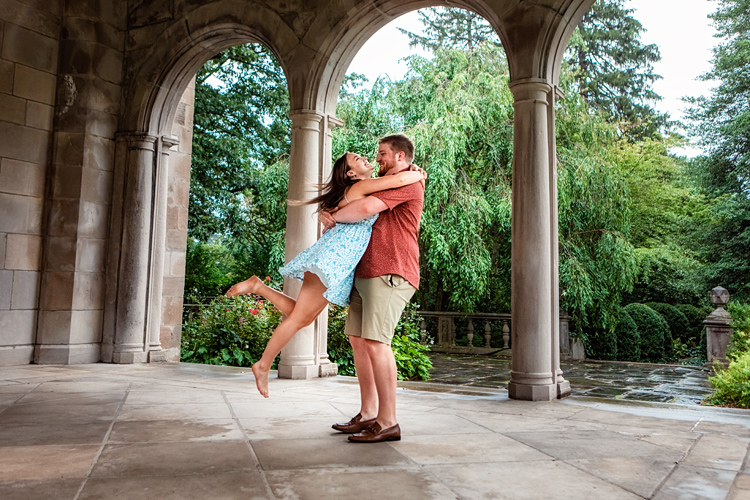 proposal engagement photoshoot at planting fields arboretum oyster bay long island